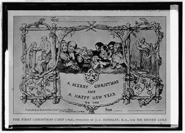 The First Christmas Card (1846) copy
