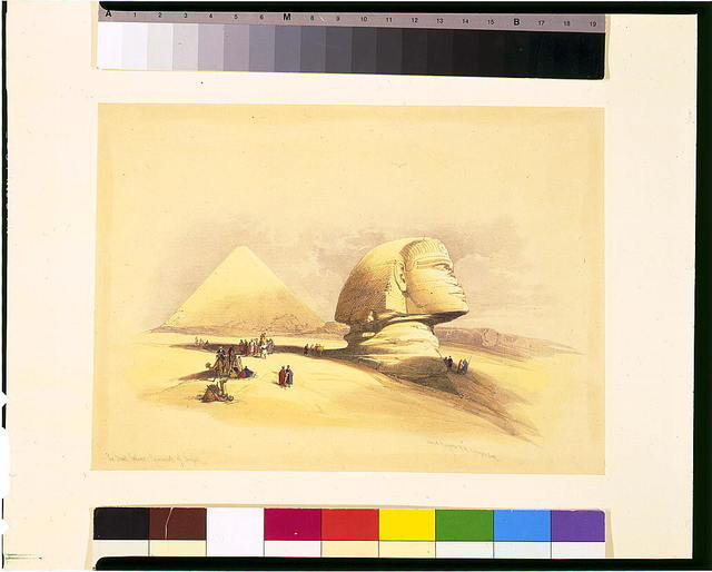 The Great Sphinx, pyramids of Girzeh / David Roberts, R.A.