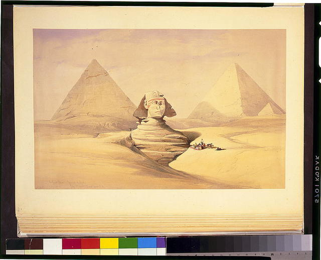 The Great Sphinx, pyramids of Girzeh July 17th 1839 / David Roberts, R.A.