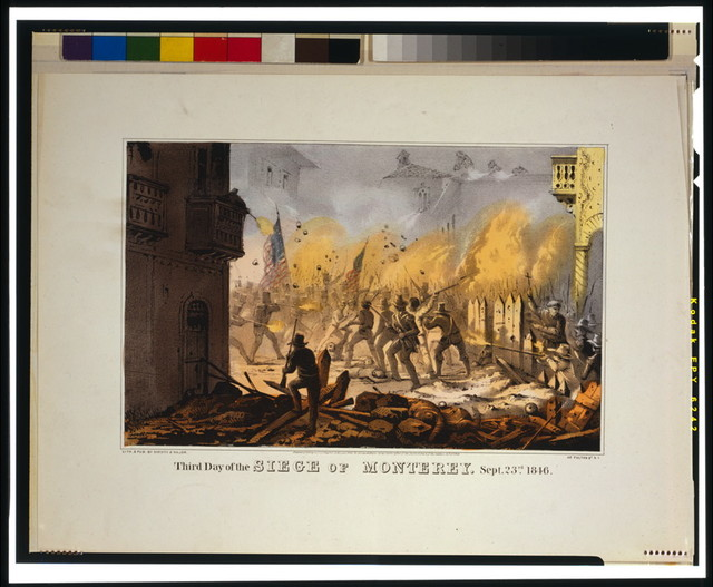 Third day of the siege of Monterey [sic]--Sept. 23rd 1846 / lith. & pub. by Sarony & Major.