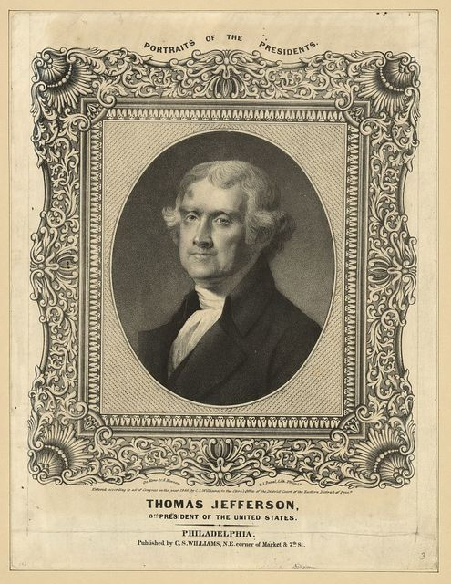 Thomas Jefferson, 3rd President of the United States / on stone by A. Newsam ; P.S. Duval Lith., Philad'a.