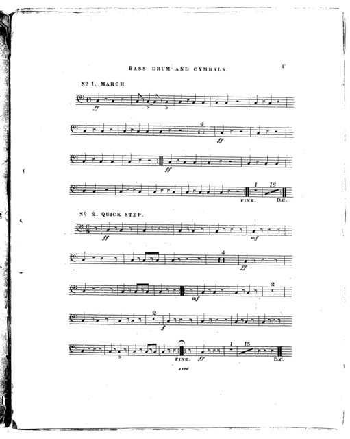 Twelve Pieces of Harmony for Military Brass Bands of Seventeen Instruments