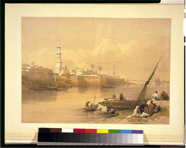 View on the Nile--ferry to Gizeh / David Roberts, R.A.