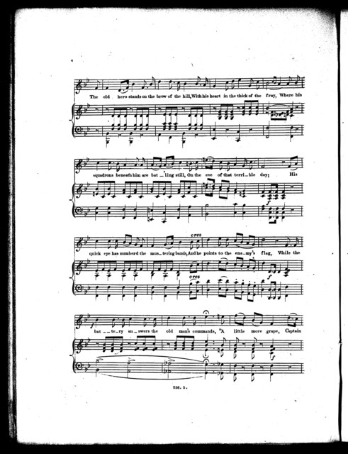 A  little more grape Captain Bragg, a national song