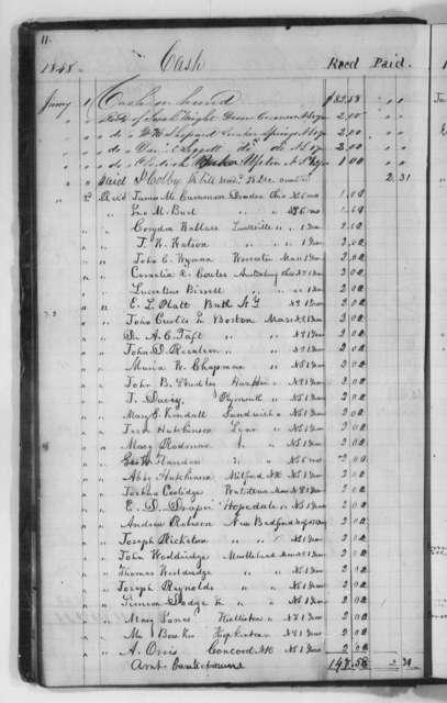 Account Books (by Douglass), 1847-1850