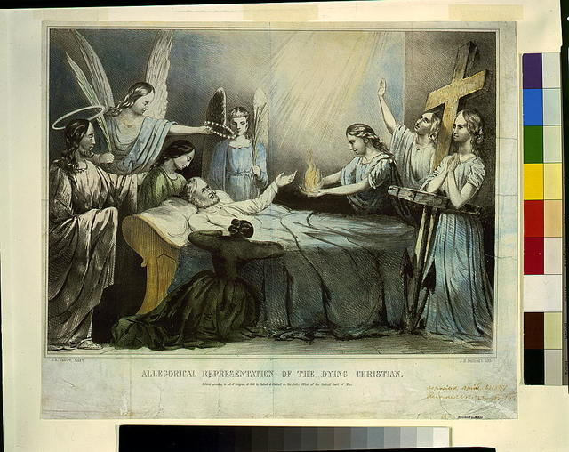 Allegorical representation of the dying Christian / N.E. Talcott pinxt. ; J.H. Bufford's lith.