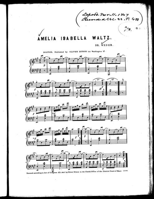 Amelia Isabella waltz