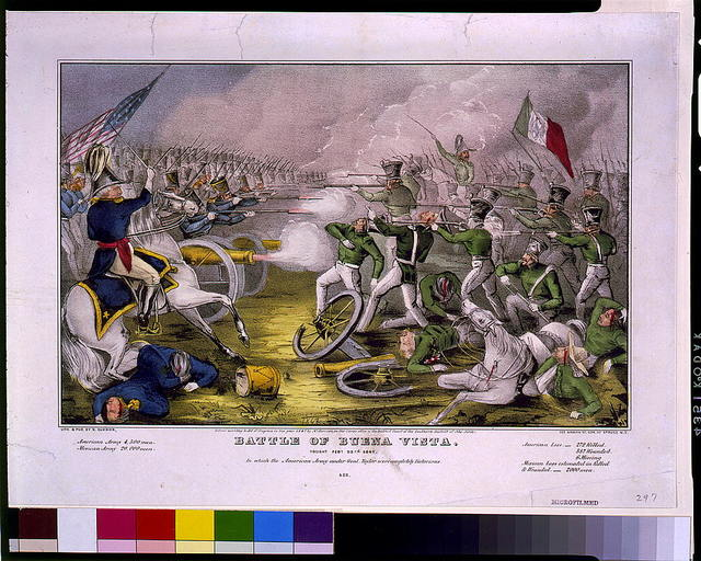 Battle of Buena Vista. Fought Feby. 23rd, 1847. In which the American Army under Gel. Taylor were completely victorious