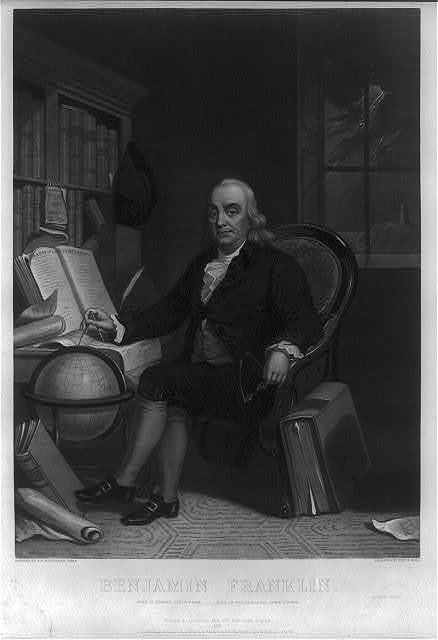 Benjamin Franklin - born in Boston, Jany. 17th 1706 -- died in Philadelphia, April 17th 1790 / painted by T.H. Matteson, Esqr. ; engraved by Heny. S. Sadd.