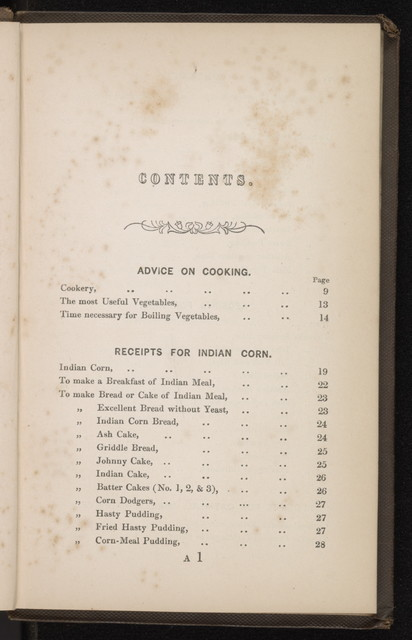 Cheap receipts and hints on cookery; collected for distribution amongst the Irish peasantry in 1847.