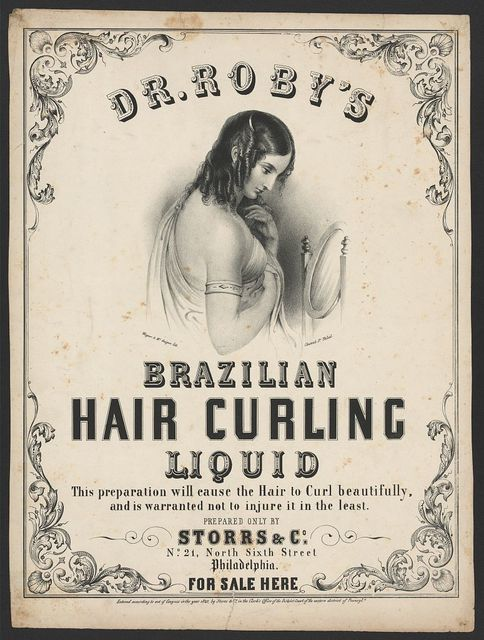 Dr. Roby's Brazilian hair curling liquid / Wagner & McGuigan lith., Chesnut St. Phila.
