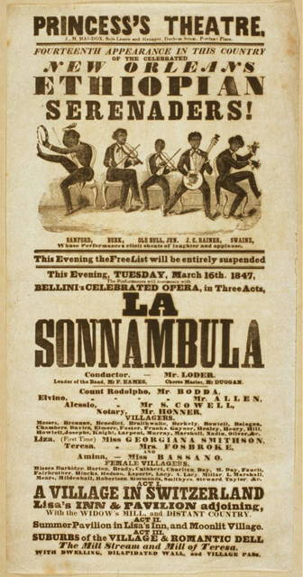Fourteenth appearance in this country of the celebrated New Orleans Ethiopian Serenaders