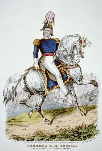 General D.E. Twiggs: at the storming of the fortress of Chapultepec