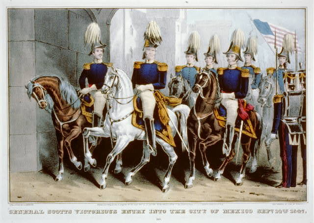 General Scotts victorious entry into the City of Mexico Sept. 14th, 1847