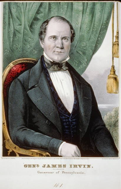 Genl. James Irvin: Whig candidate for governor of Pennsylvania