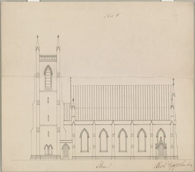 [Grace Church (Brooklyn, New York). Side elevation] / Rich Upjohn, arct.
