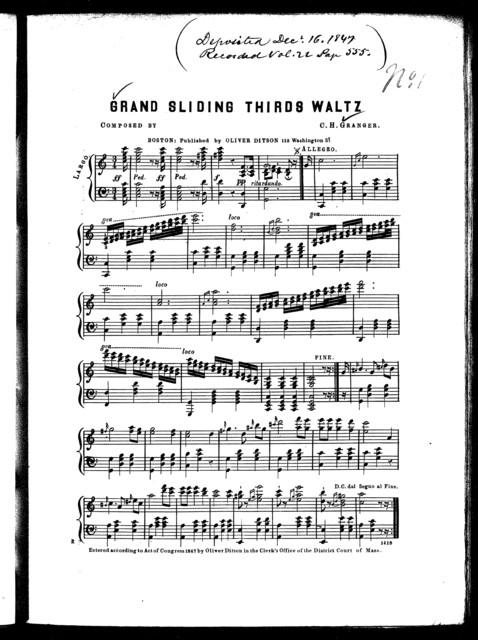 Grand sliding thirds waltz