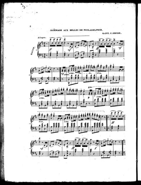 Hommage aux belles de Philadelphie [from] Le roi d'Yvett̥, op. 103