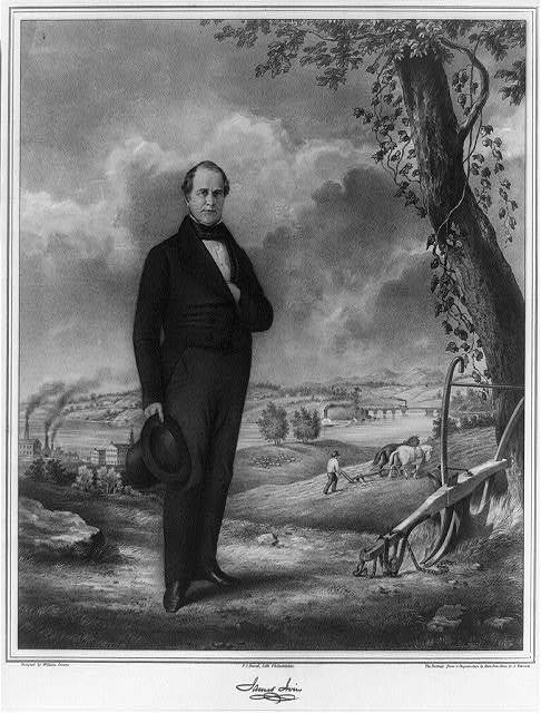 James Irvin / designed by William Croome ; the portrait from a daguerreotype by [Marcus] Root & on stone by A[lbert] Newsam ;  P.S. Duval, lith., Philadelphia.