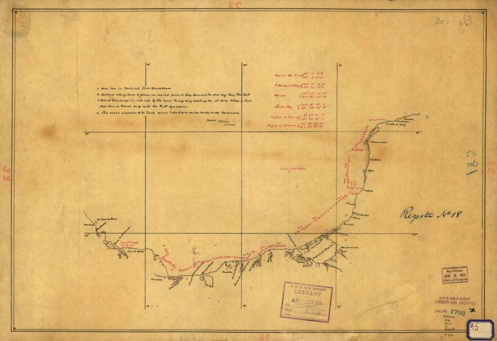 Map Showing Coast Of Mexico From Vera Cruz To Chuxula Picryl