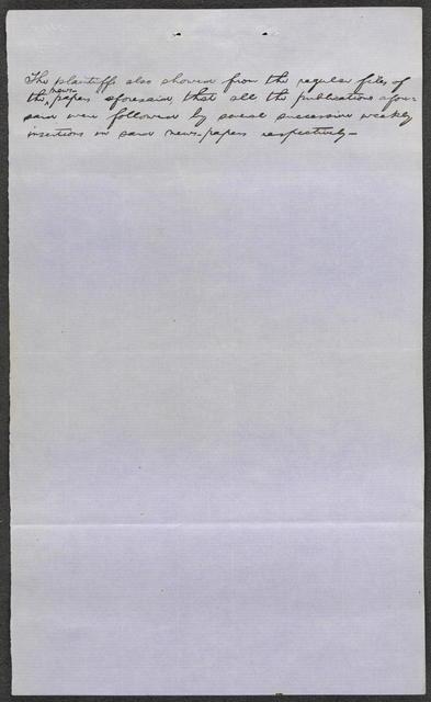 Newspaper Transcripts in Barret v. Alton & Sangamon Railroad, [Law papers].
