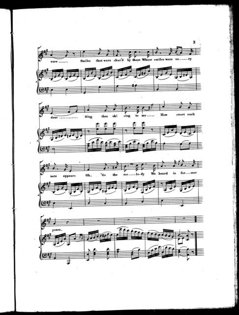 Oh! 'tis the melody, a ballad
