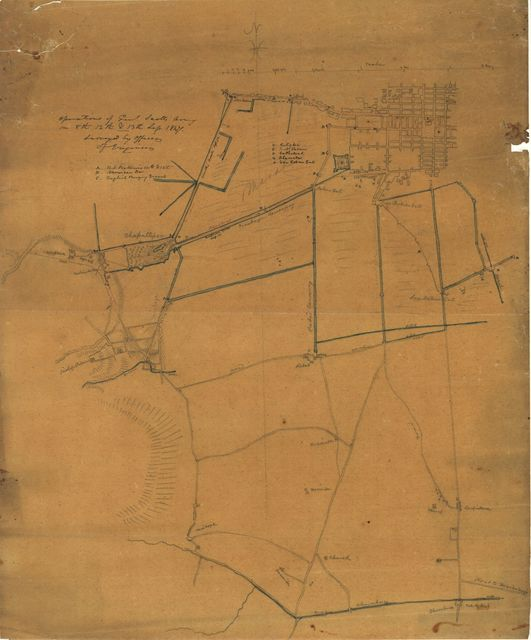 Operations of Genl. Scott's Army on 8th, 12th & 13th Sep. 1847 : [Mexico City] /