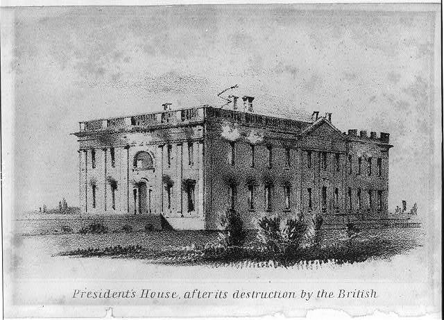 President's house after its destruction by the British
