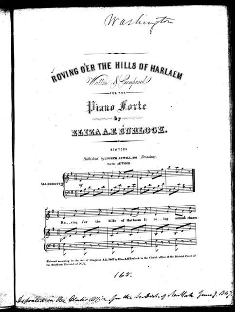 Roving o'er the hills of Harlaem