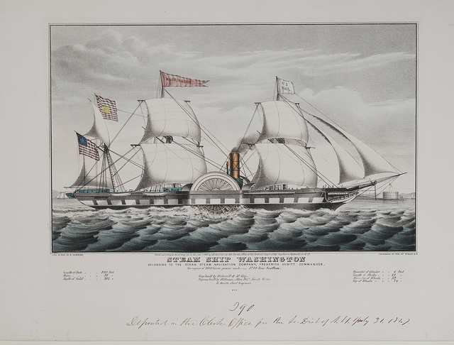 Steam ship Washington: belonging to the Ocean Steam Navigation Company, Frederick Hewitt Commander