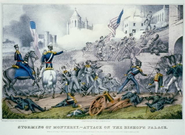 Storming of Monterey. Attack on the bishop's palace