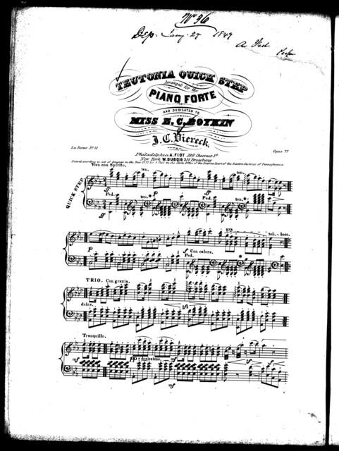 Teutonia quick step, La revue no. 12, op. 77