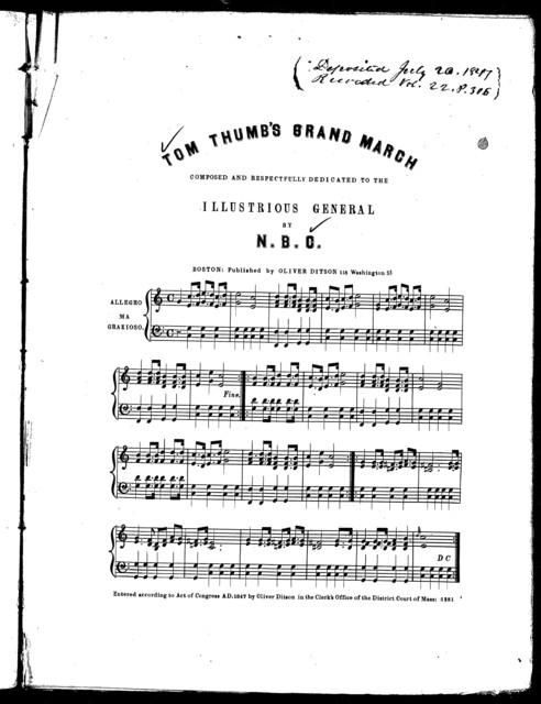 Tom Thumb's grand march