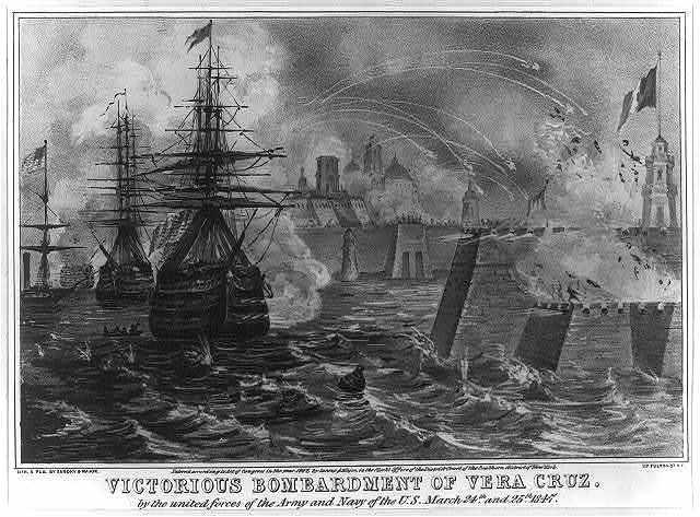 Victorious bombardment of Vera Cruz