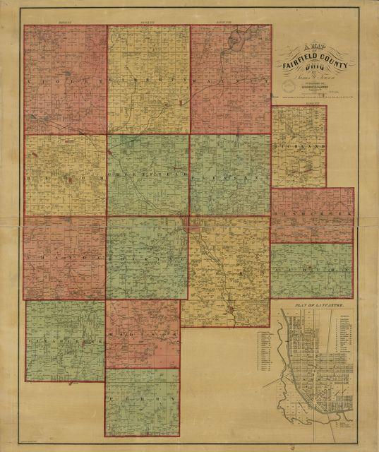 A map of Fairfield County, Ohio /