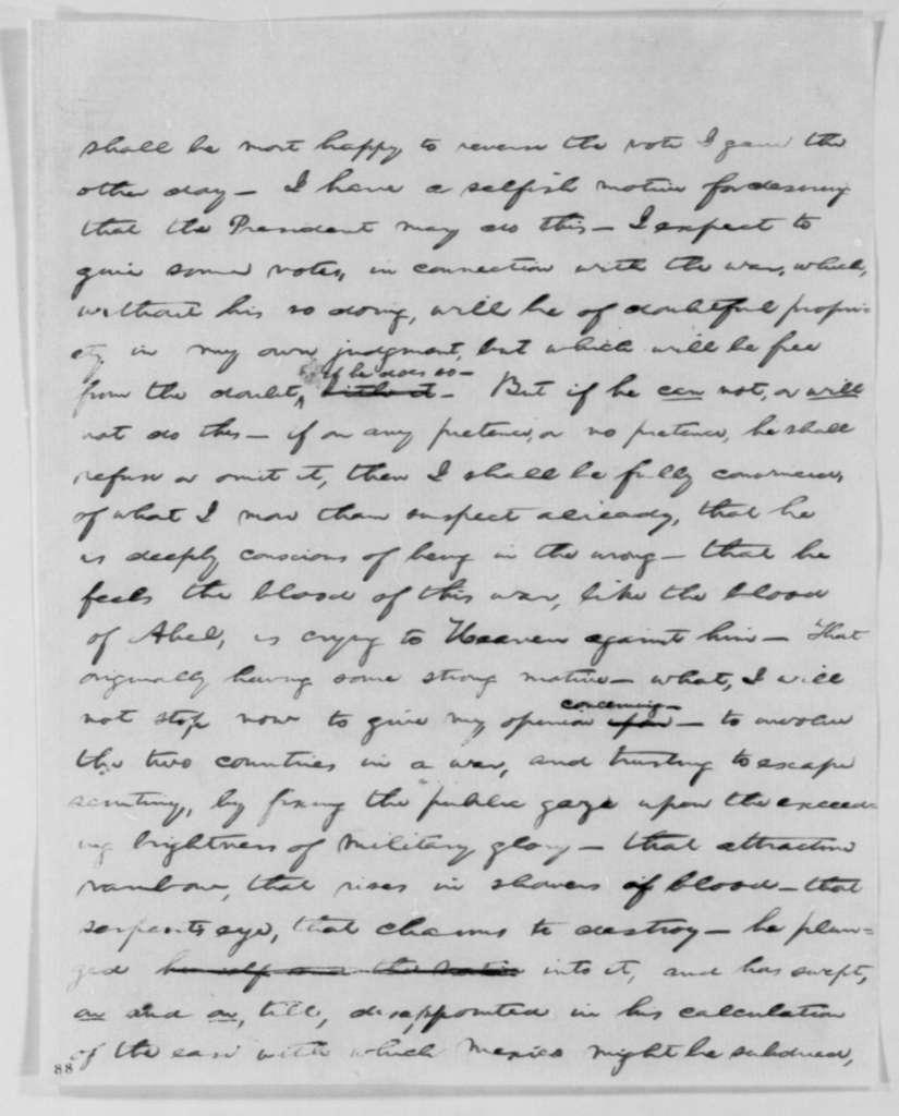 Abraham Lincoln to Congress, January 12, 1848  (Speech regarding Mexican War)