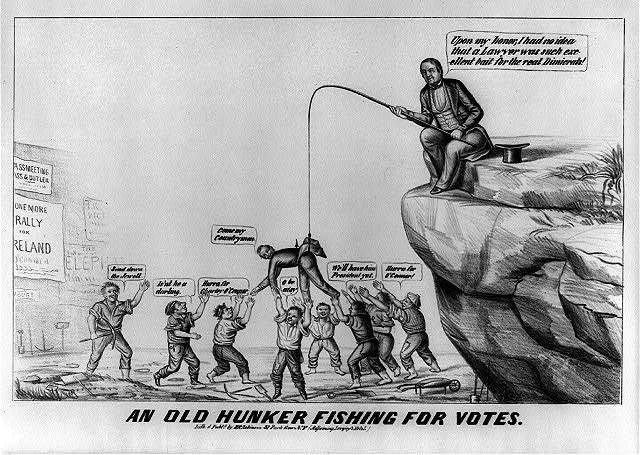 An old hunker fishing for votes