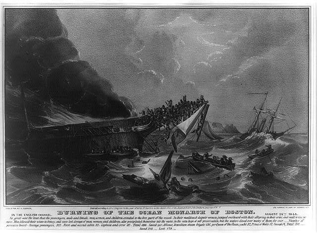Burning of the Ocean Monarch of Boston: In the English Channel, August 24th, 1848