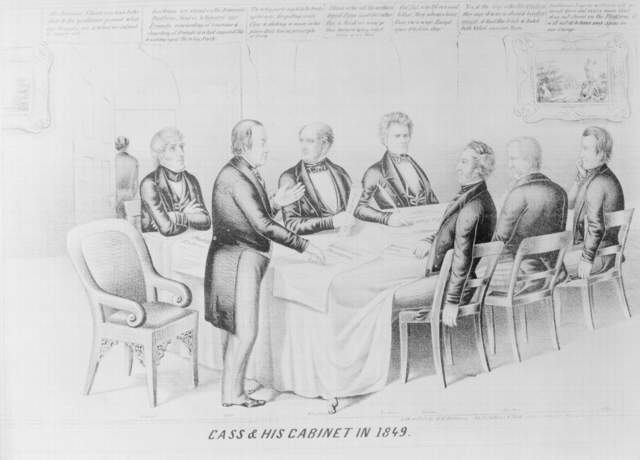 Cass & his cabinet in 1849