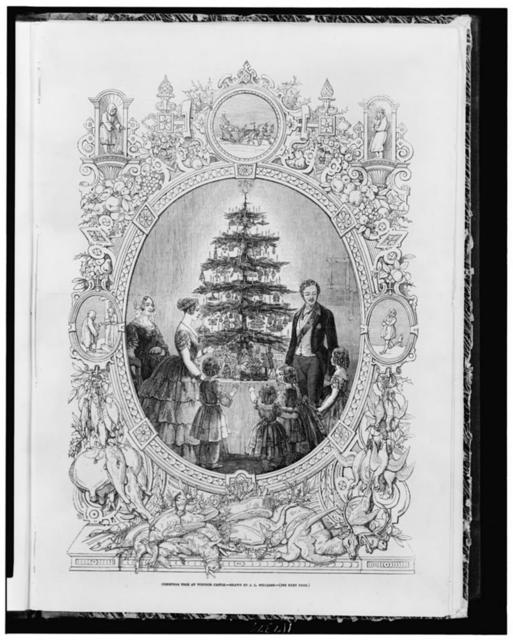 Christmas tree at Windsor Castle / drawn by J.L. Williams.
