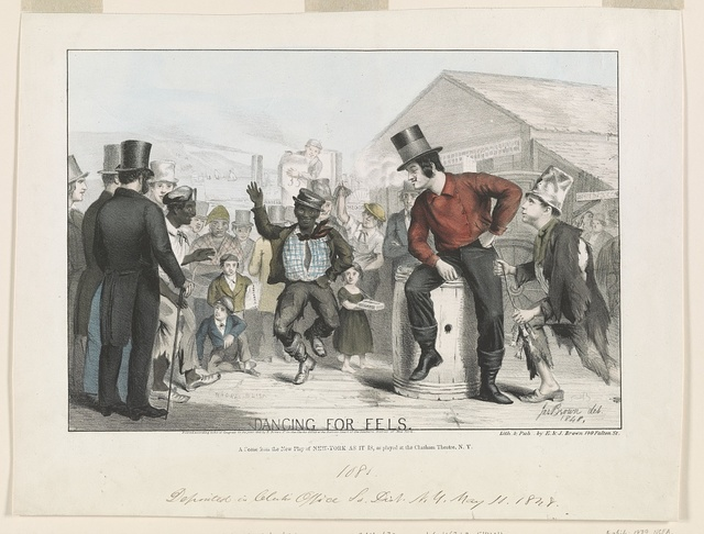 Dancing for eels A scene from the new play of New-York as it is, as played at the Chatham Theatre, N.Y. / / Jas. Brown del. 1848.