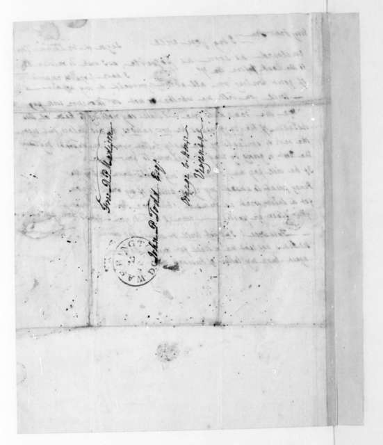 Dolley Payne Madison to John Payne Todd. 1848.