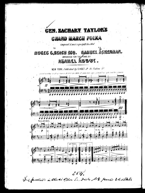 Gen. Zachary Taylor's grand march polka