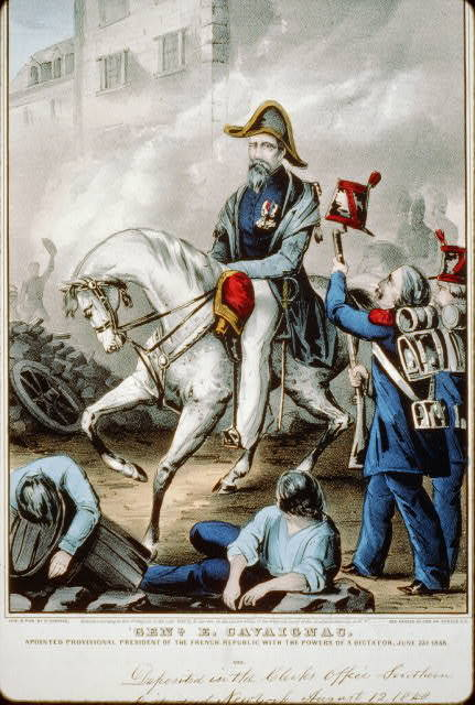 Genl. E. Cavaignac: appointed provisional president of the French republic with the powers of a dictator, June 23, 1848