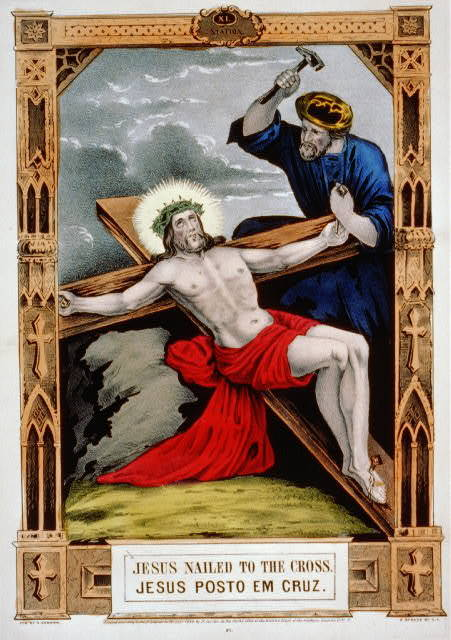 Jesus nailed to the cross / Jesus posto em cruz