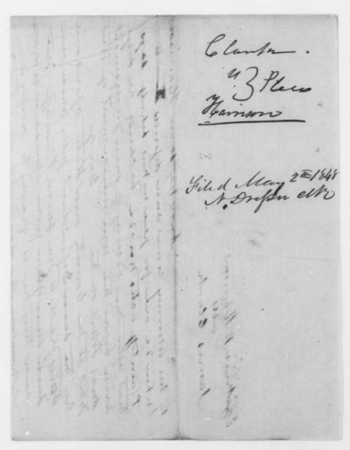 John T. Stuart and [Abraham Lincoln], [May 1848]  (Plea in case of James Clark vs. Ezekiel B. Harrison)