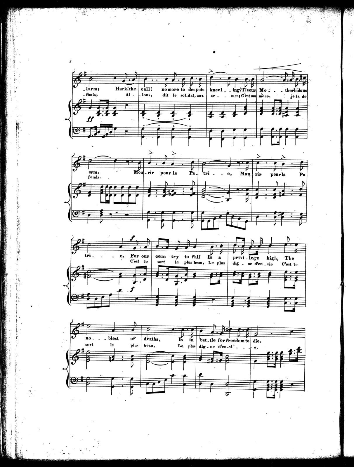 Les  Cirondins, Mourir pour la patrie, revolutionary song '48