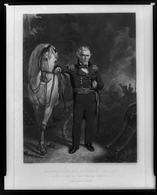 Major-General Zachary Taylor--President of the United States / from an original daguerreotype ; engraved by John Sartain.