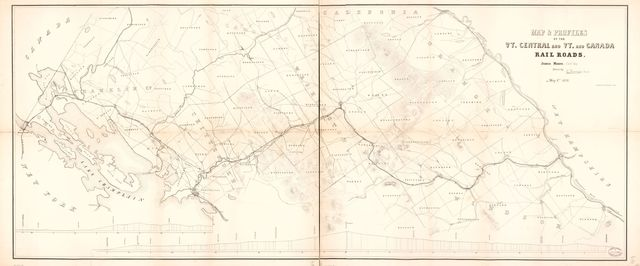 Map & profiles of the Vt. Central and Vt. and Canada Railroads /