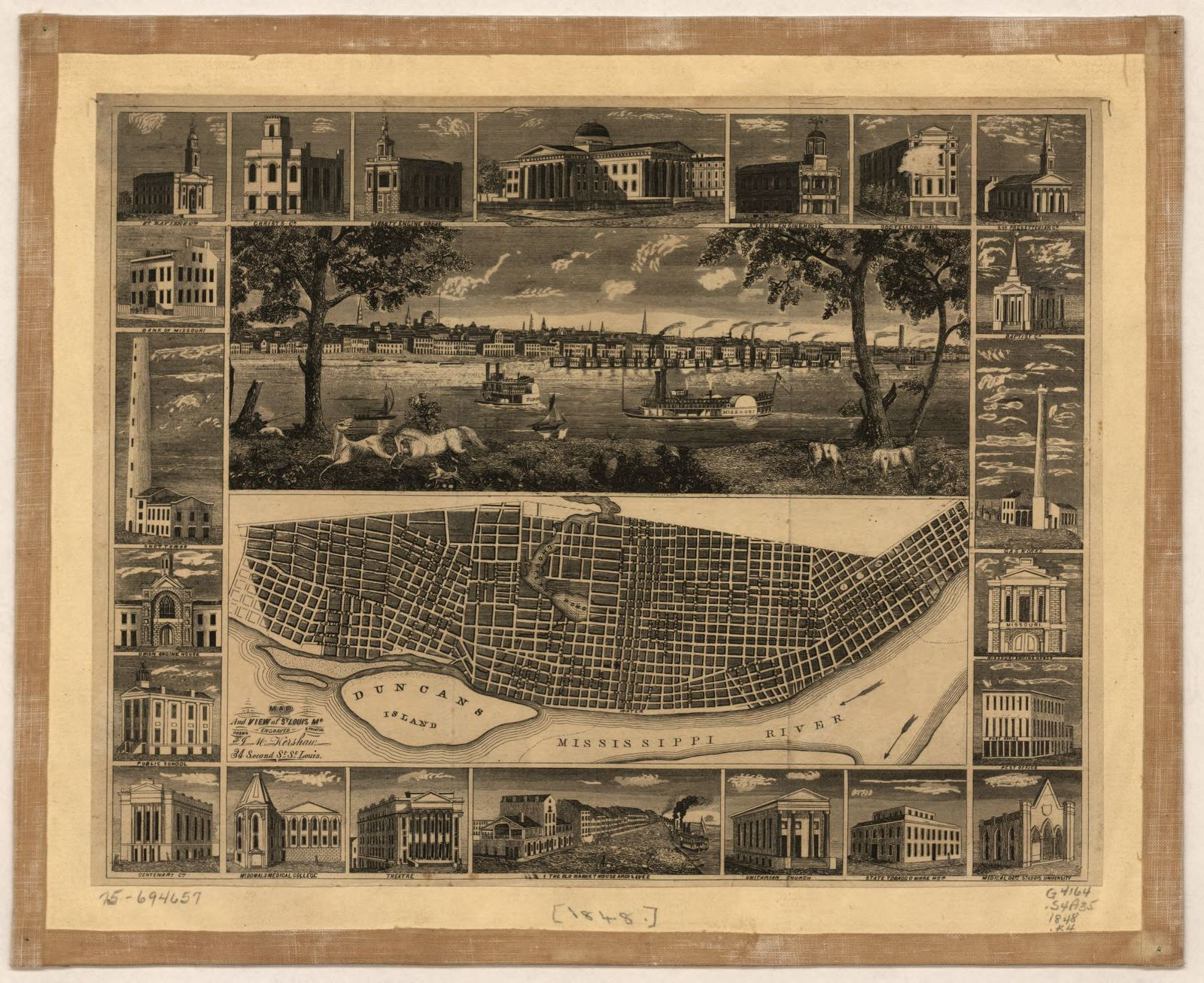 Map and view of St. Louis, Mo.